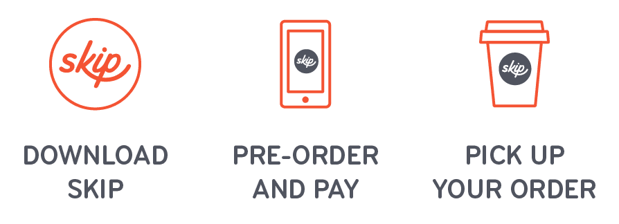 Skip app to pre-order and pick up drinks and food
