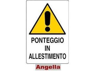 CARTELLO PONTEGGIO IN ALLESTIMENTO