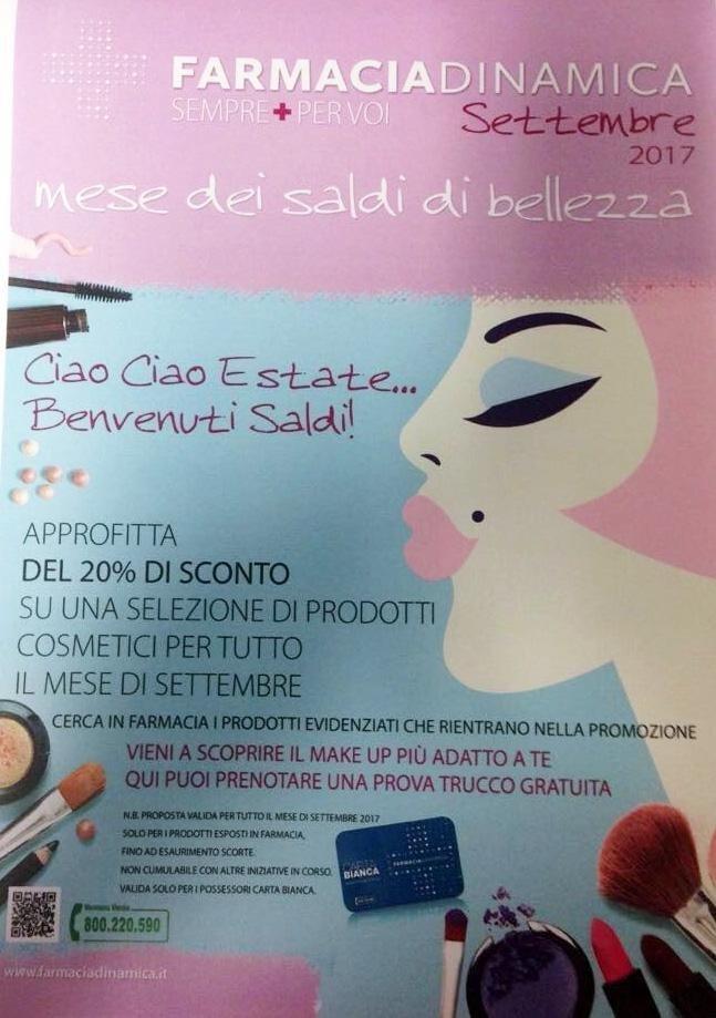 Saldi Cosmetici Settembre 2017