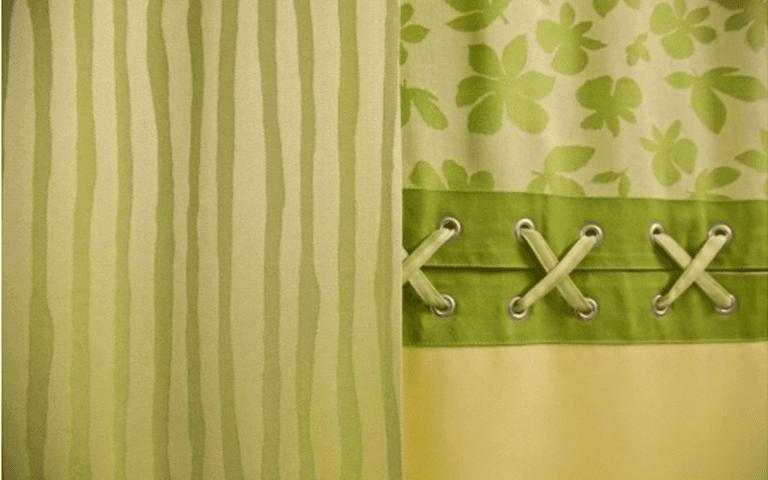 tende tessuto verde fantasia