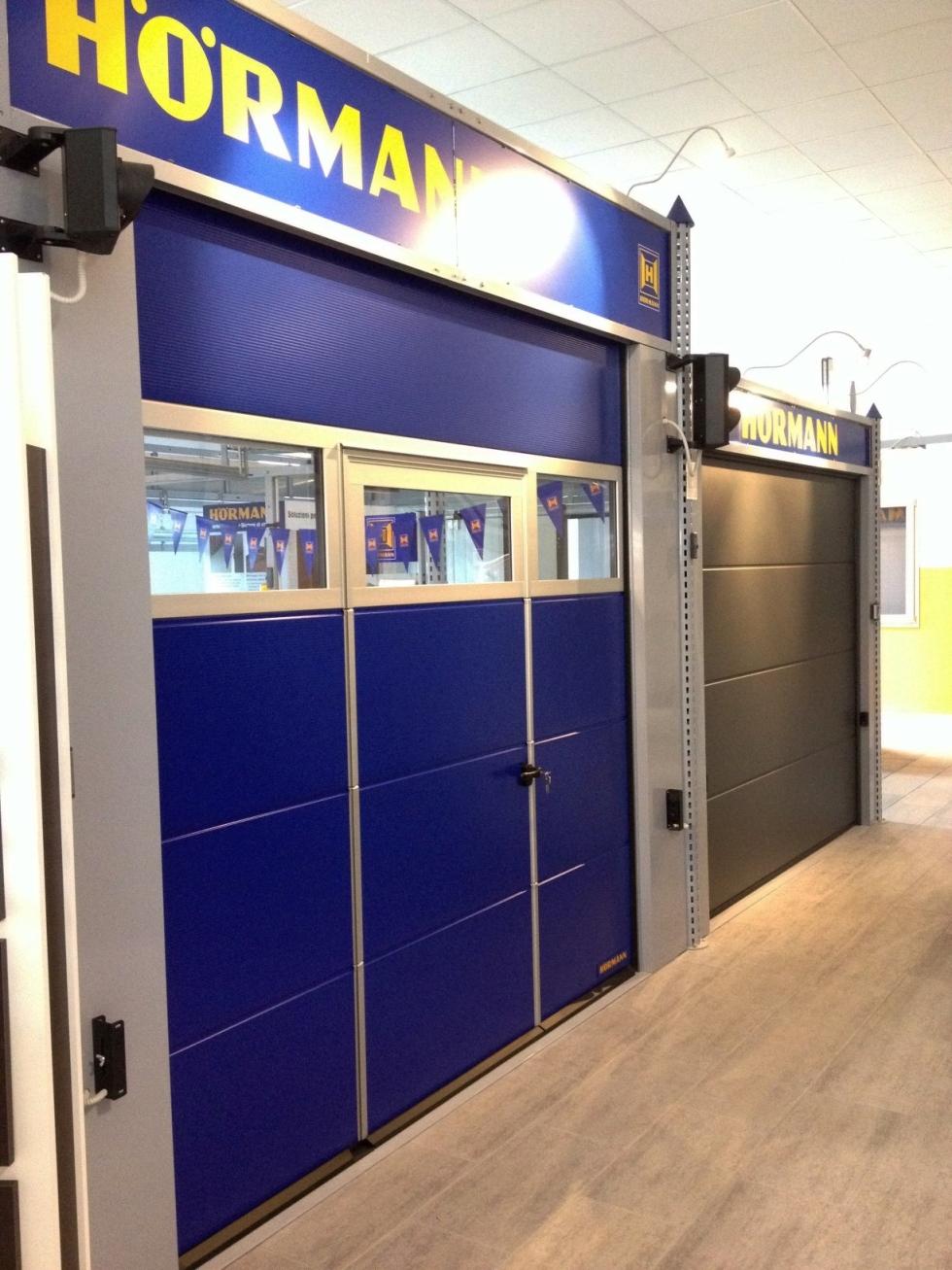 porte garage blu